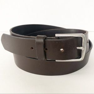 Gap Smooth Leather Brown Belt with Silver Buckle